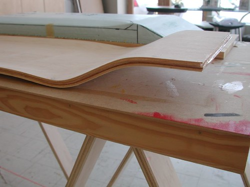 Glass Molding Material : Two inch drop deck ministry of wood skateboard builder