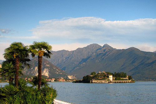 View of Lake Maggiore with Isola Bella in the distance by you.