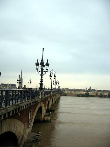 Bridge across the Gironde river.