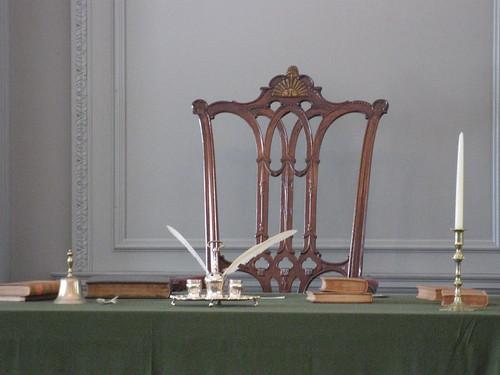 """Rising Sun"" chair of George Washington, Independence Hall"