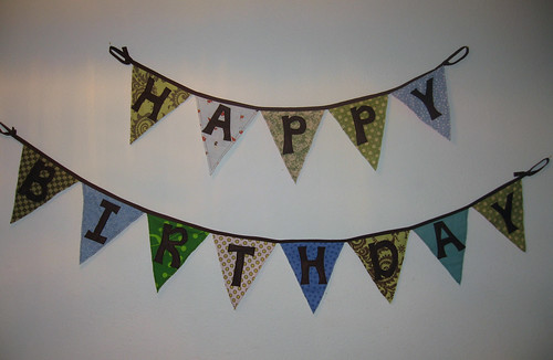Birthday Banner, Boy's Side
