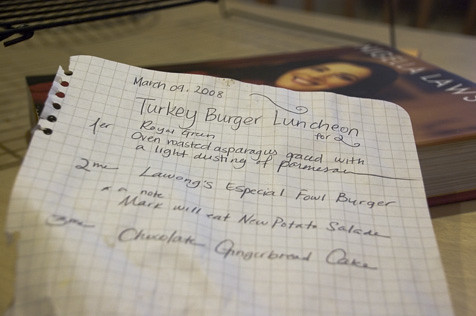 Our menu, french style. Can you tell we think we're funny?