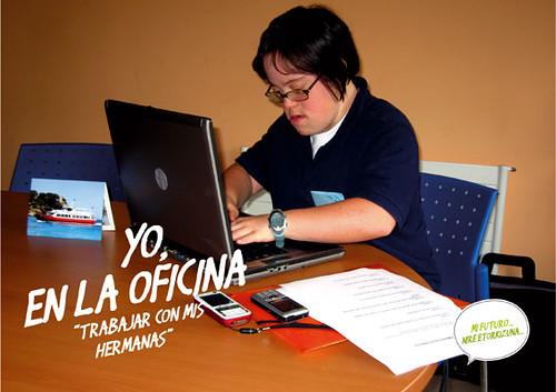 Rosana, en la oficina.