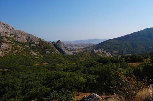 Солничная долина с перевала Синор