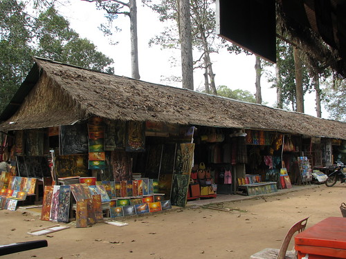 Food stalls at Angkor Thom