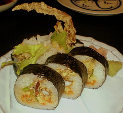 isami sushi - spider roll