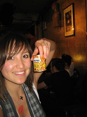 Bella and a can of nuts (from a vending machine) Craft Night, Notting Hill Arts Club