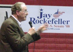 Sen. Jay Rockefeller campaigns for change