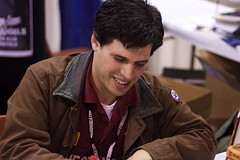 Max Brooks Signing my copy of World War Z