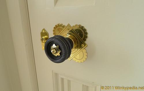 Door handle at St Pancras Hotel