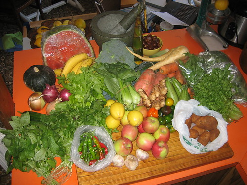 $75 worth of fruit and veg