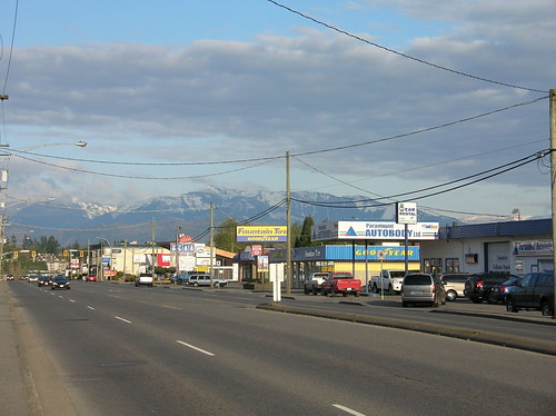 South Fraser Way - the main drag through the centre of Abbotsford