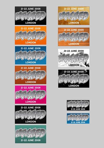 Mashed logos for websites