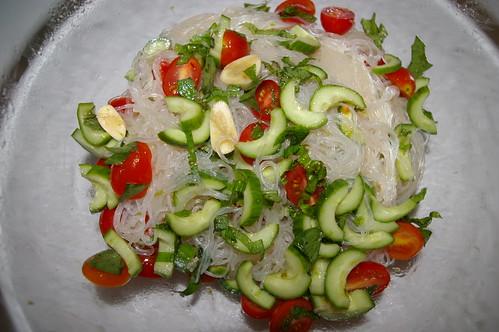 Saifun Salad with the dressing