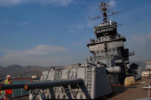 Вид крейсера с палубы
