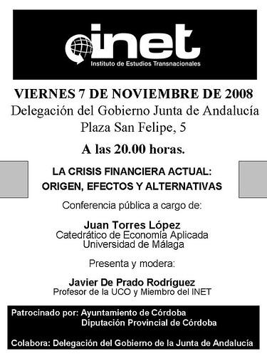 Conferencia Juan Torres López en Cordoba organizada por el INET