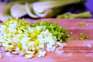 celery hearts and leaves