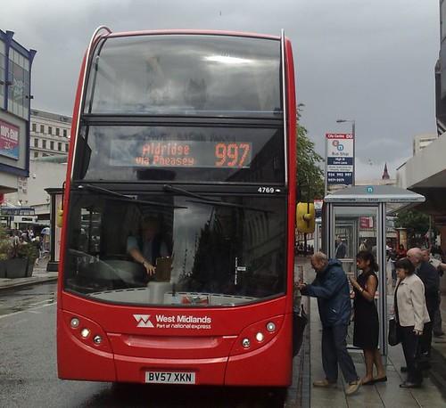 [997 at stop DG on HIgh Street, Birmingham]