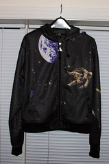 The front of my cool new hoodie - it has the Atlantis Space Shuttle on the back