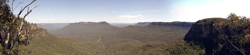 Vista del parque natural de las Blue Mountains