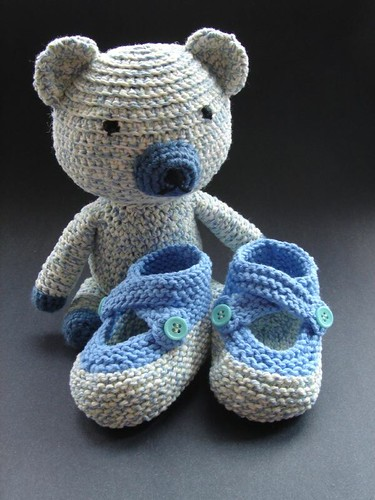 Saartje's Bootees and Mr. Bear