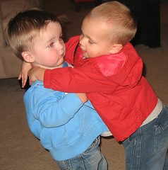 Hugs. Again Ro looks a bit scared.