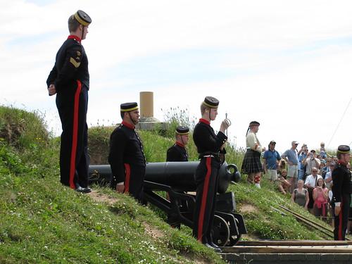 firing the noon gun