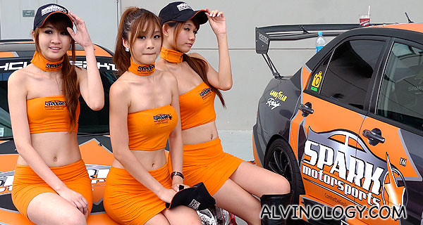 Car models at Formula Drift Asia - what's a car event without models?