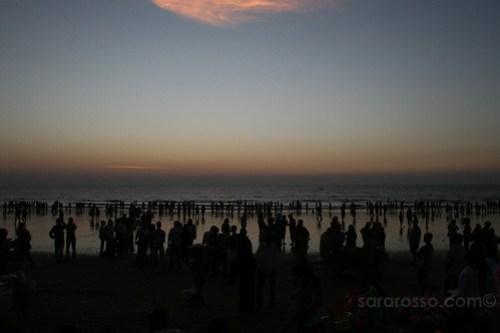 Sunset on Juhu Beach, Mumbai-Bombay, India