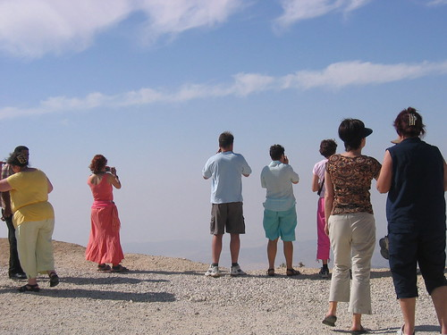 Tourists admiring the view in Jordan