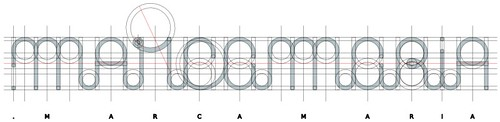 Malha geométrica do logotipo do .marcamaria