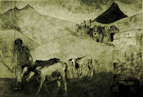 """Destroyed """"Armenian Pastoral"""" (1973) Mural by Minas Avetisian"""
