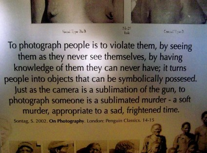 to photograph is to violate
