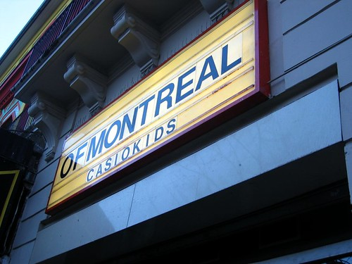 Sign for Of Montreal and Casiokids at Le Bataclan.