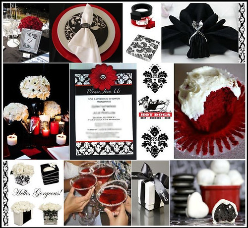 And Winter Red Black Theme White Wedding