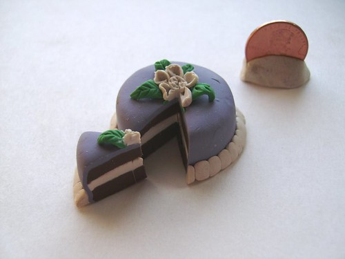 mini purple cake