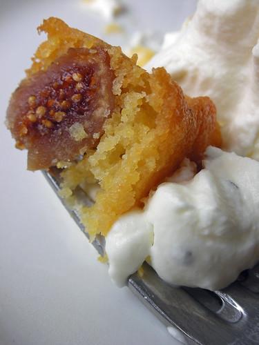 fluted polenta and ricotta cake