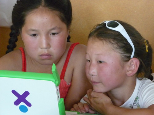 Children and XOs in Mongolia