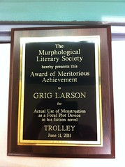 "I am now, officially, an ""award winning"" author :p :p"