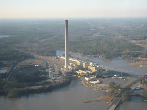 Aerial image of the Harlee Branch Plant in Milledgeville, GA.