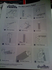 Instructions for what to do with the Threadless Prints Tube Packaging
