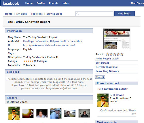 Turkey Sandwich Report - Blog Network