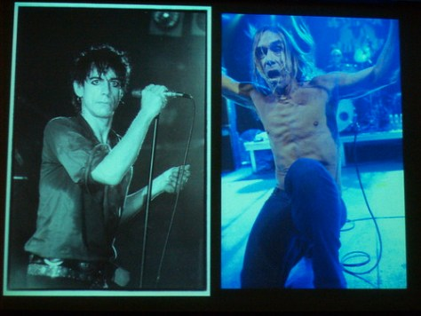 Iggy Pop decades apart by Kk and Bev Davies at NV09