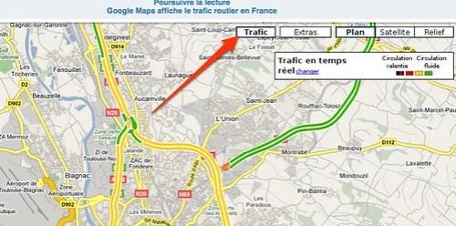 Images : Google Maps affiche le trafic routier en France by you.