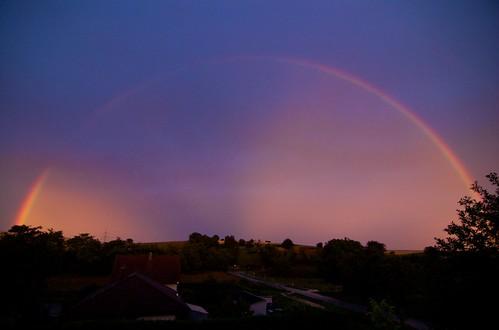 Regenbogen über dem Kraichgau