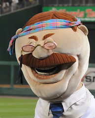 Washington Nationals Racing President Teddy Roosevelt on 70s Night at Nationals Park