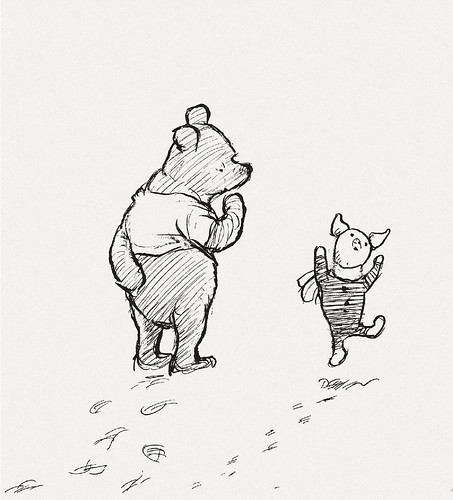 And Clip White Winnie Art Robin Pooh And Christopher Black