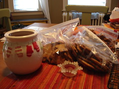 Gingerbread cookie feast