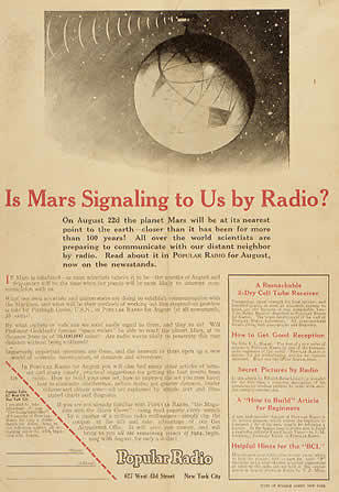 Is Mars Signaling to Us by Radio?
