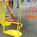 Funfair chair swings.